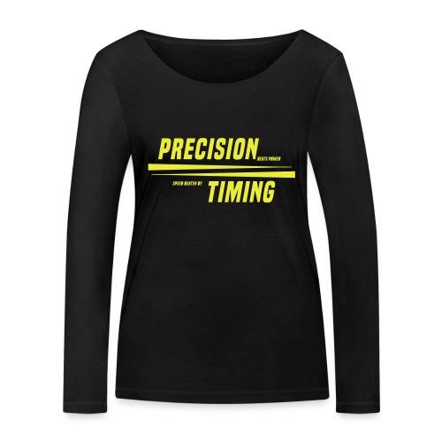 PRECISION & TIMING - Økologisk Stanley & Stella langærmet T-shirt til damer