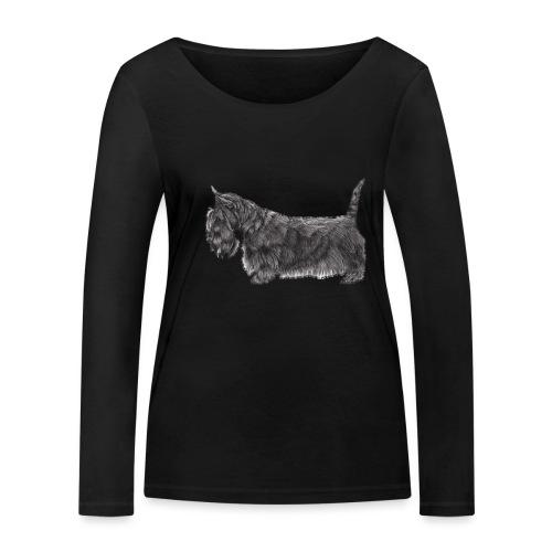 skotsk terrier ub - Økologisk Stanley & Stella langærmet T-shirt til damer