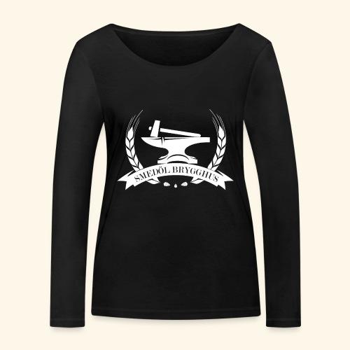 Smedöl Brygghus Logga Vit - Ekologisk långärmad T-shirt dam från Stanley & Stella