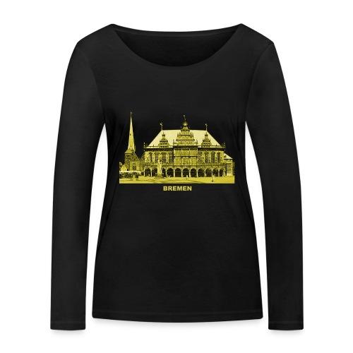Bremen Rathaus Roland Hansestadt Deutschland - Frauen Bio-Langarmshirt von Stanley & Stella
