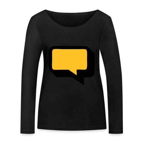 Sprechblase 3D 2c - Frauen Bio-Langarmshirt von Stanley & Stella