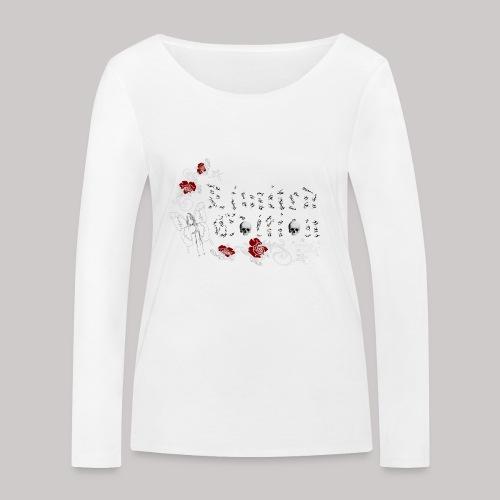 simply wild limited edition on black - Frauen Bio-Langarmshirt von Stanley & Stella