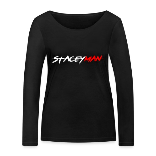 staceyman red design - Women's Organic Longsleeve Shirt by Stanley & Stella