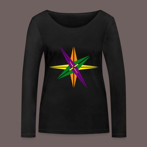 GBIGBO zjebeezjeboo - Love - Couleur d'étoile brillante - T-shirt manches longues bio Stanley & Stella Femme