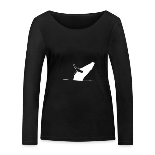 Jumping whale - white - Frauen Bio-Langarmshirt von Stanley & Stella