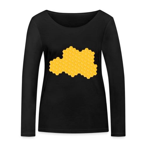 Bienenwabe - Frauen Bio-Langarmshirt von Stanley & Stella
