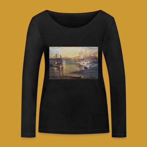 White Fishing - Mark Noble Art - Women's Organic Longsleeve Shirt by Stanley & Stella
