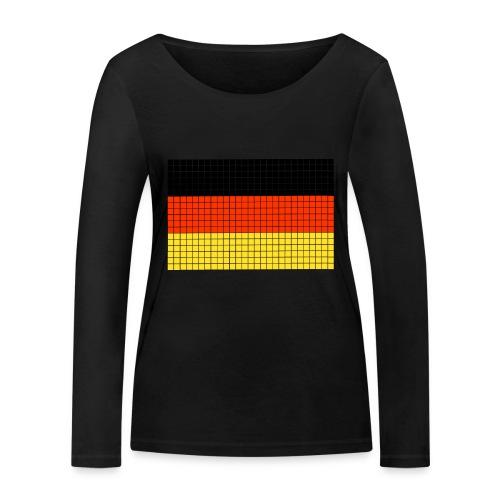 german flag.png - Maglietta a manica lunga ecologica da donna di Stanley & Stella