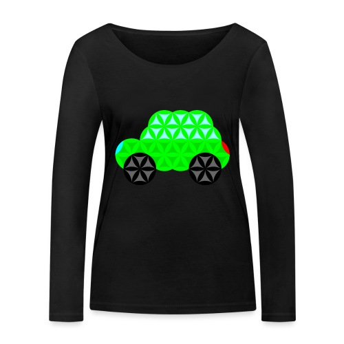 The Car Of Life - M01, Sacred Shapes, Green/R01. - Women's Organic Longsleeve Shirt by Stanley & Stella