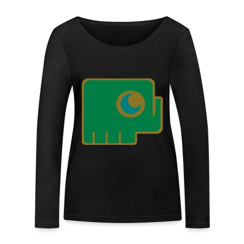 Elefant - Women's Organic Longsleeve Shirt by Stanley & Stella