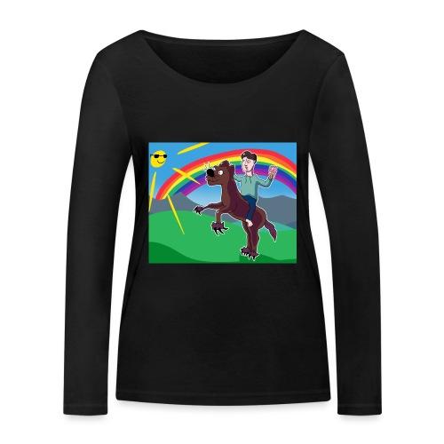 Regnbue Strandfisk Musematte - Økologisk langermet T-skjorte for kvinner fra Stanley & Stella