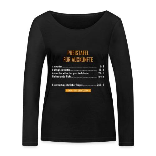 Preistafel für Auskünfte - Frauen Bio-Langarmshirt von Stanley & Stella
