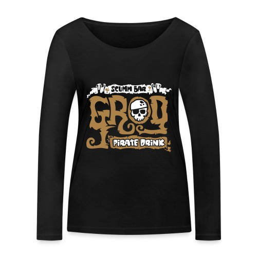 Scumm Bar Grog - Camiseta de manga larga ecológica mujer de Stanley & Stella