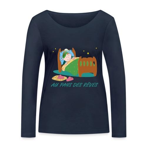 Personnage endormi - T-shirt manches longues bio Stanley & Stella Femme