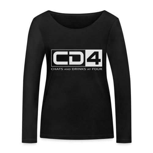 cd4 logo dikker kader bold font - Vrouwen bio shirt met lange mouwen van Stanley & Stella