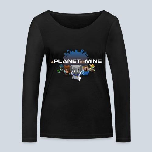 logo planetofmine dark HD - T-shirt manches longues bio Stanley & Stella Femme