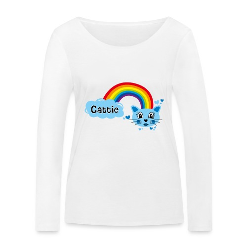 Motif Cattie - T-shirt manches longues bio Stanley & Stella Femme