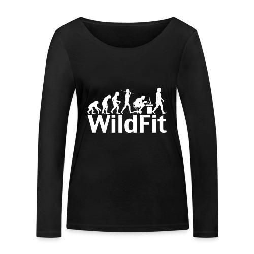 WildFit Logo Evolution Weiß - Frauen Bio-Langarmshirt von Stanley & Stella