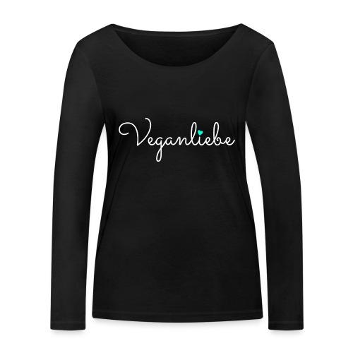 Veganliebe Logo Schriftzug für Veganer - Frauen Bio-Langarmshirt von Stanley & Stella