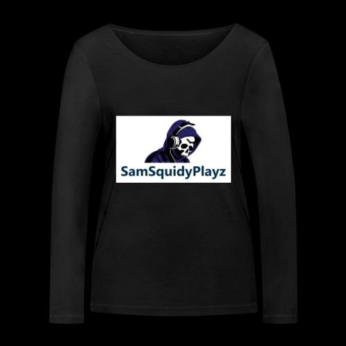 SamSquidyplayz skeleton - Women's Organic Longsleeve Shirt by Stanley & Stella