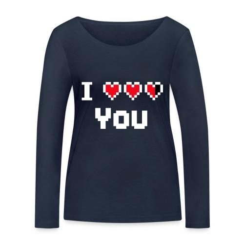 I pixelhearts you - Vrouwen bio shirt met lange mouwen van Stanley & Stella