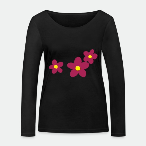 Three Flowers - Women's Organic Longsleeve Shirt by Stanley & Stella