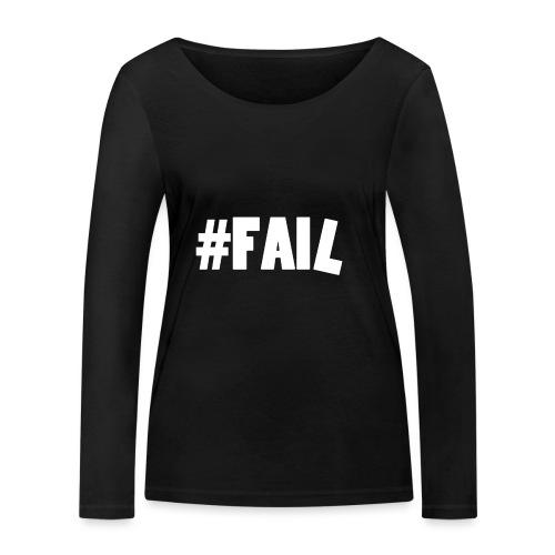 FAIL / White - T-shirt manches longues bio Stanley & Stella Femme