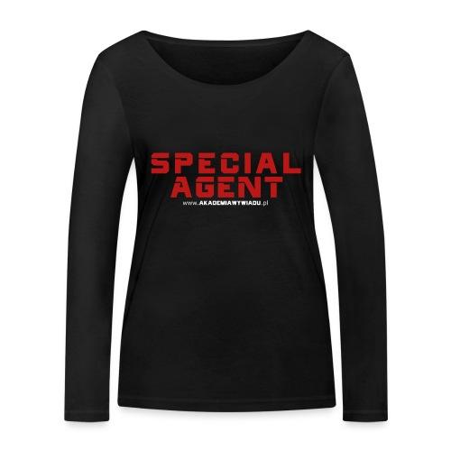 Emblemat Special Agent marki Akademia Wywiadu™ - Ekologiczna koszulka damska z długim rękawem Stanley & Stella
