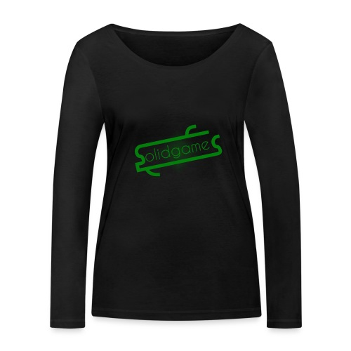 Solidgames Crewneck Grey - Women's Organic Longsleeve Shirt by Stanley & Stella