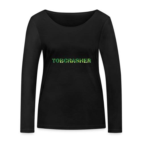 Tshirt Green triangles big - Frauen Bio-Langarmshirt von Stanley & Stella