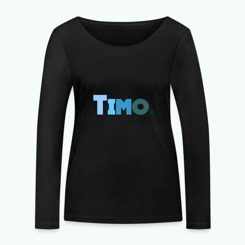 Timo in blauwe tinten - Vrouwen bio shirt met lange mouwen van Stanley & Stella