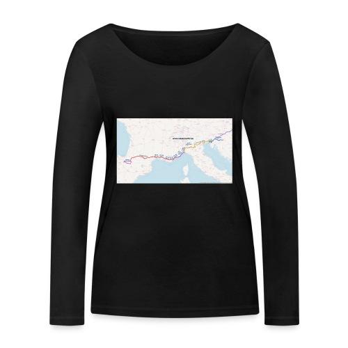 Mappa Cammino Zagreb-Santiago - Maglietta a manica lunga ecologica da donna di Stanley & Stella