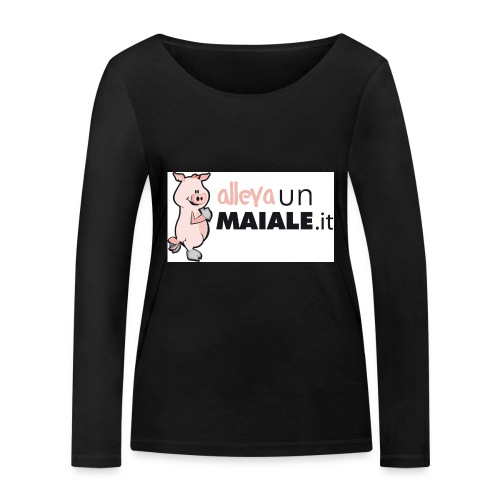 Allevaunmiale.it - Maglietta a manica lunga ecologica da donna di Stanley & Stella