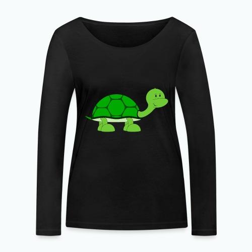 Totte Turtle - Appelsin - Ekologisk långärmad T-shirt dam från Stanley & Stella