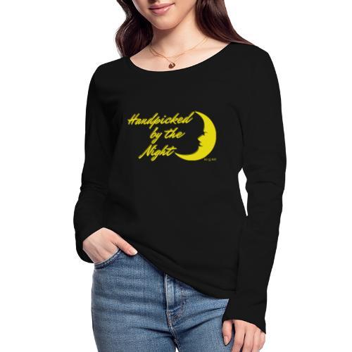 Handpicked design By The Night - Logo Yellow - Women's Organic Longsleeve Shirt by Stanley & Stella