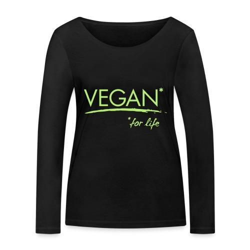 vegan for life 1c - Frauen Bio-Langarmshirt von Stanley & Stella