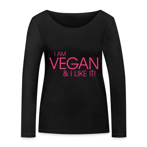 I am vegan and I like it - Frauen Bio-Langarmshirt von Stanley & Stella