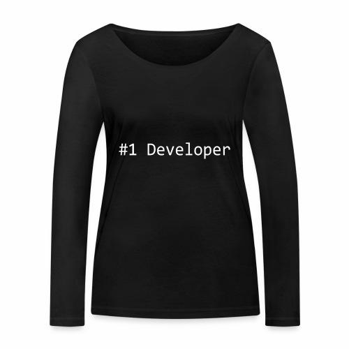#1 Developer - White - Women's Organic Longsleeve Shirt by Stanley & Stella