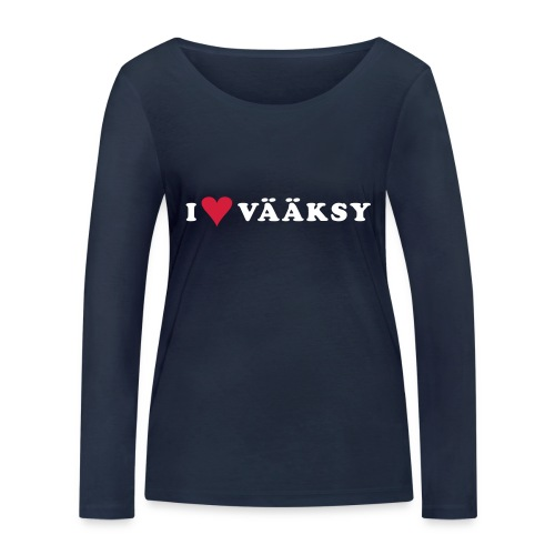 I LOVE VAAKSY - Stanley & Stellan naisten pitkähihainen luomupaita