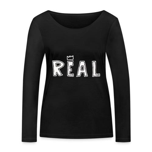 REAL (White) - Vrouwen bio shirt met lange mouwen van Stanley & Stella