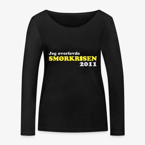 Smørkrise 2011 - Norsk - Økologisk langermet T-skjorte for kvinner fra Stanley & Stella