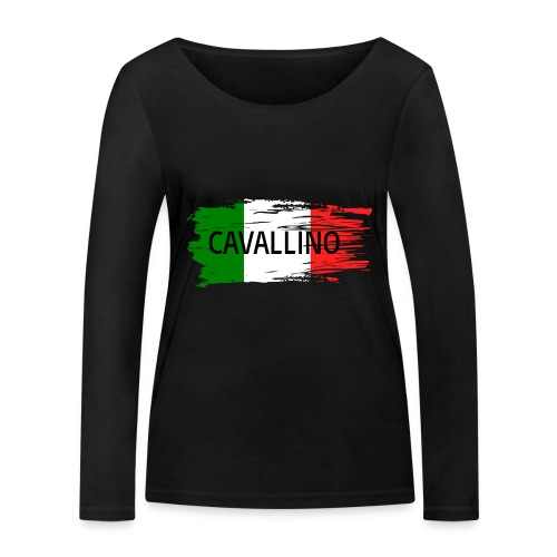 Cavallino auf Flagge - Frauen Bio-Langarmshirt von Stanley & Stella
