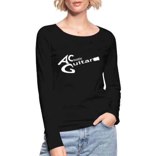 Acoustic Guitar Logo - White - Women's Organic Longsleeve Shirt by Stanley & Stella