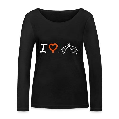 I love Jurte - Frauen Bio-Langarmshirt von Stanley & Stella