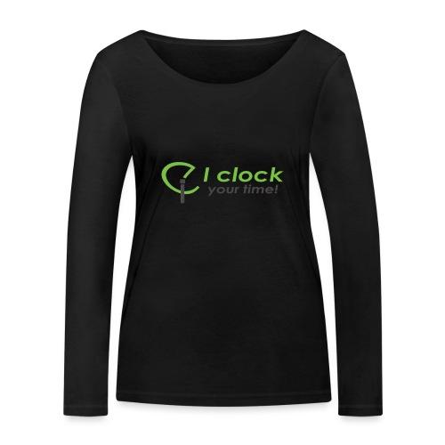 I clock your time - Maglietta a manica lunga ecologica da donna di Stanley & Stella