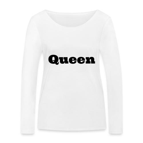 Snapback queen rood/zwart - Vrouwen bio shirt met lange mouwen van Stanley & Stella