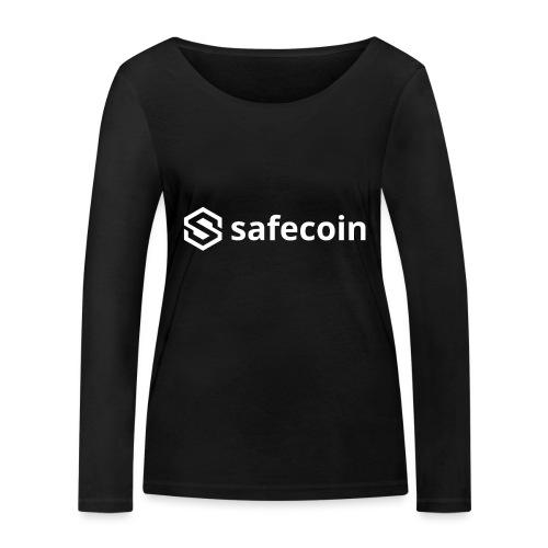 safecoin white - Women's Organic Longsleeve Shirt by Stanley & Stella