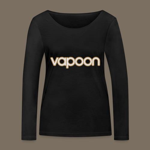Vapoon Logo simpel 2 Farb - Frauen Bio-Langarmshirt von Stanley & Stella