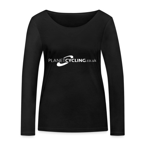 Planet Cycling Web Logo - Women's Organic Longsleeve Shirt by Stanley & Stella
