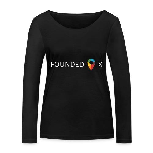FoundedX logo white png - Women's Organic Longsleeve Shirt by Stanley & Stella